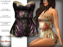 The Muses . Belle . Romper . Black/Purple (Buy Now - August) Fitmesh - Belleza, Slink, Maitreya, Classic Sizes.