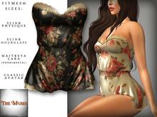 The Muses . Belle . Romper . Black/Pink (Buy Now - August) Fitmesh - Belleza, Slink, Maitreya, Classic Sizes.