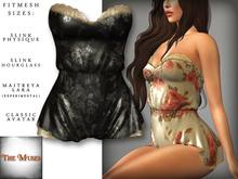The Muses . Belle . Romper . Black/Grey (Buy Now - August) Fitmesh - Belleza, Slink, Maitreya, Classic Sizes.