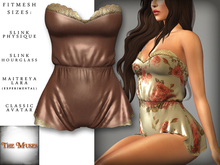 The Muses . Belle . Romper . Silk/Rose (Buy Now - August) Fitmesh - Belleza, Slink, Maitreya, Classic Sizes.