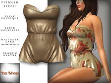 The Muses . Belle . Romper . Silk/Ivory (Buy Now - August) Fitmesh - Belleza, Slink, Maitreya, Classic Sizes.
