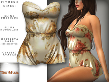 The Muses . Belle . Romper . Ivory/Yellow (Buy Now - August) Fitmesh - Belleza, Slink, Maitreya, Classic Sizes.