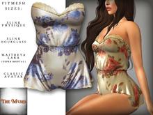 The Muses . Belle . Romper . Ivory/Blue (Buy Now - August) Fitmesh - Belleza, Slink, Maitreya, Classic Sizes.