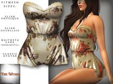 The Muses . Belle . Romper . Ivory/Black (Buy Now - August) Fitmesh - Belleza, Slink, Maitreya, Classic Sizes.