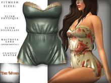 The Muses . Belle . Romper . Silk/Blue (Buy Now - August) Fitmesh - Belleza, Slink, Maitreya, Classic Sizes.