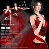 -AZUL- Valsnia /Garnet (MV India/MVW2016)