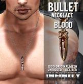 !NFINITY Bullet Necklace - Blood (wear to unpack)