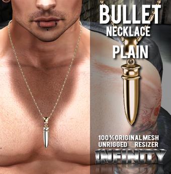 !NFINITY Bullet Necklace - Plain (wear to unpack)