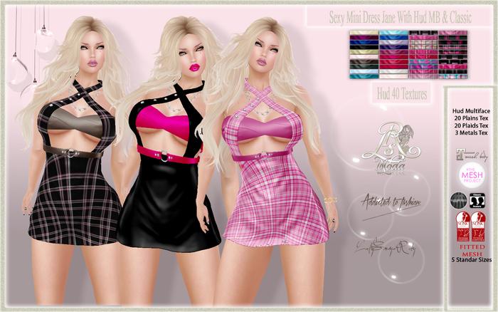 LSR -  Sexy Mini Dress Jane With Hud MB & Classic