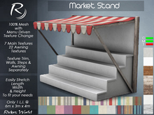 Riders Market Stand (7 Structure Textures & 22 Awning Textures) Store Display