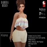 BD-Kiana ethno strapless crop top & shorts maitreya, belleza, Slink Physique, Fitmesh, Gift
