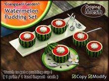 *FG* Watermelon Party {Watermelon Pudding Set}