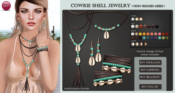 Izzie's - Full Set Cowrie Shell Jewelry