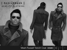 [ hoorenbeek ] Russell Leather Trenchcoat - DEMO