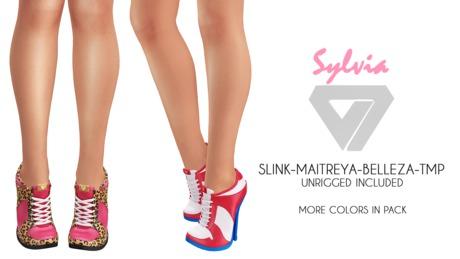 ILLI - [SLink,MeshProject,Belleza,Maitreya] Sylvia Sneaker Heels (HUD Driven) - PROMO