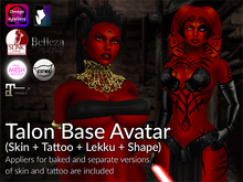 LURE: Talon Base Avatar (Skin, Tattoo, Lekku)