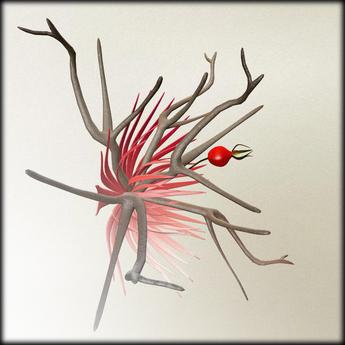 *LODE* Headwear - Wild Rose [red]