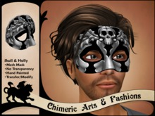 Skull & Holly Mask