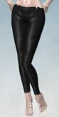 lassitude & ennui Handstitched leather leggings - black