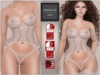 BigBeautifulDoll - AMBER Fit Mesh Lingerie White - Slink Physique Slink Hourglass Eve Slim Eve Pulpy Fitted mesh Lace
