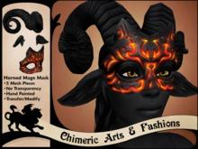 Horned Mage Mask (Black)