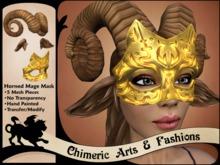 Horned Mage Mask (Gold)