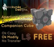 Aperture Science Portal Weighted Companion Cube