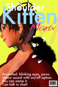 Fluffy Tuxedo Manx Kitten: An Animated Pet