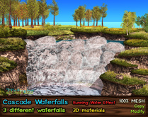 21strom Cascade Waterfalls with Running Water - 3pcs