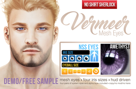 [NSS] VERMEER mesh eyes demo/free sample - AMETHYST