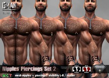 [GMan] JW - Chest Piercings Set 2