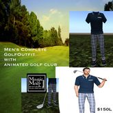 ***Men's Complete Golf outfit with animated club(box)