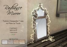 """Radiance Mirror """"Light wood"""" - Bokeh"""