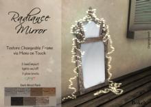 "Radiance Mirror ""Dark wood"" - Bokeh"