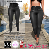*Hot Mango* Skinny Leggings Black