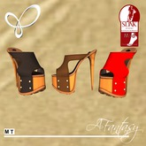 3 pr. Afantasy MEDIUM SLINK Wrap Clog Sandal Heels