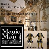 18th Century Men's Mesh Costume (box)