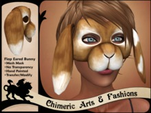 Flop Eared Bunny Mask (Light Brown)
