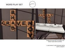.birch. Word Play Set - REZ ME