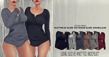 *IS* Long Sleeve Knitted Bodysuit Fatpack [MAITREYA-SLINK PHYSIQUE/HOURGLASS]
