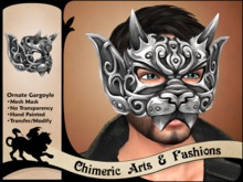 Ornate Gargoyle Mask (Silver)
