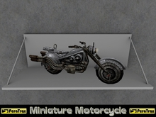 "(PeraTrax) - Miniature Motorcycle ""Rockwylder"" /// Futuristic Display Motorcycle /// Steampunk Static Bike /// Transfer"