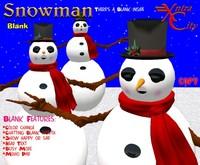 Snowman Avatar w/ color change scarf