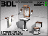 3DL - Half Bathroom Set (3 Prims - 100% Mesh)