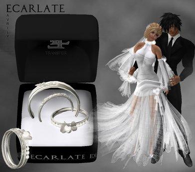 Ecarlate - Alliance Women/Men + Engagement Ring- Gold - Avrily 1