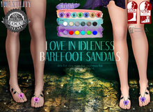 Violetility - Love in Idleness Barefoot Sandals