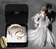 Ecarlate - Alliance Women/Men + Engagement Ring- Gold - Avrily