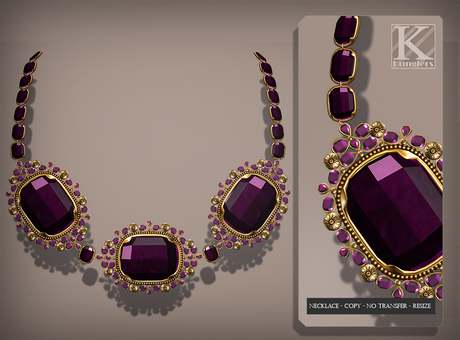 (Kunglers) Aphrodite necklace - Amethyst
