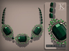 (Kunglers) Aphrodite necklace - Emerald
