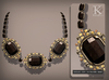 (Kunglers) Aphrodite necklace - Obsidian